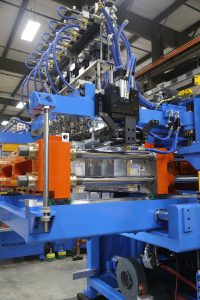 Rocheleau's automated blow moulding applications service a number of industries including dairy, industrial, and toy.