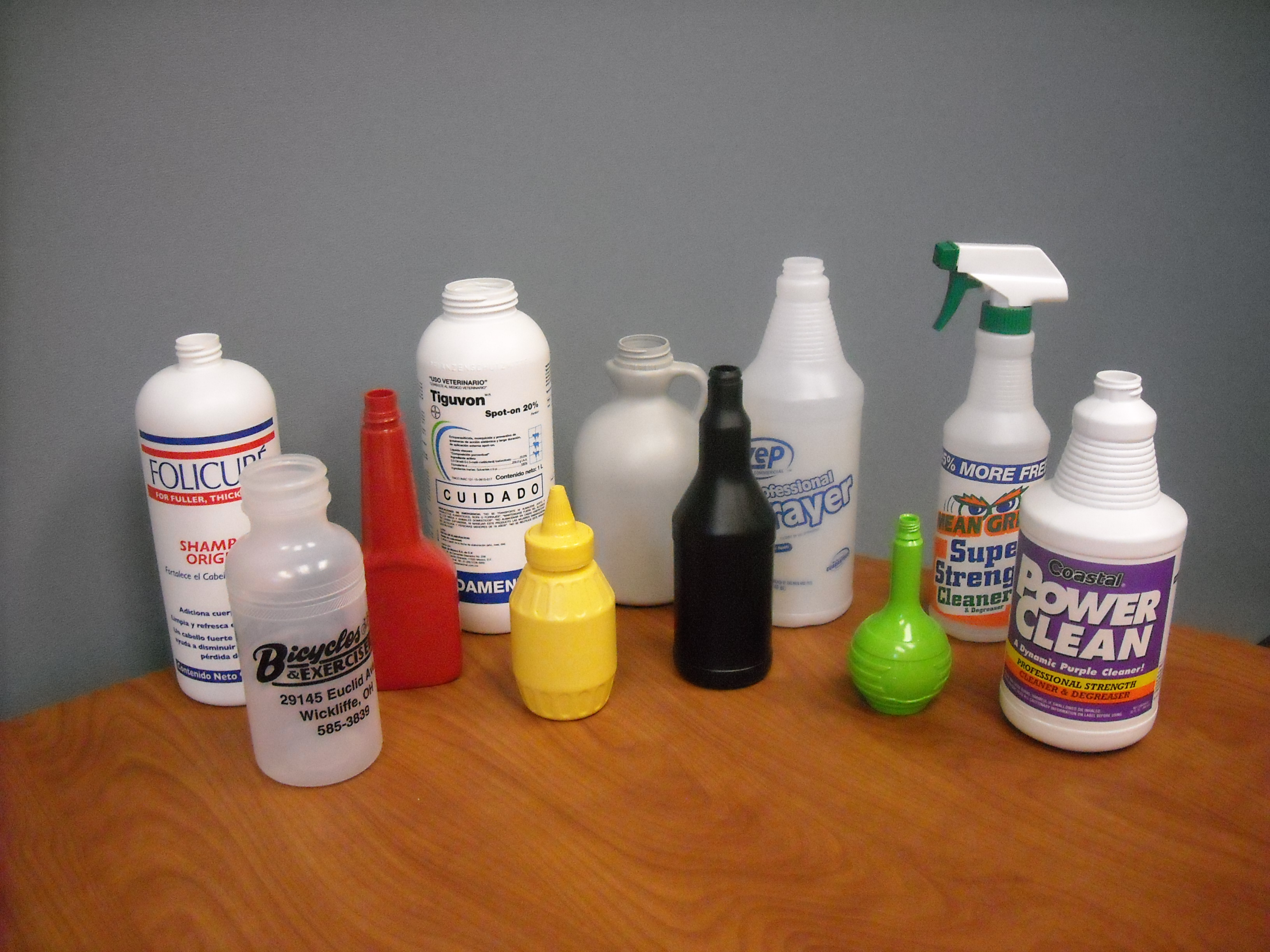 Calibrated neck bottles