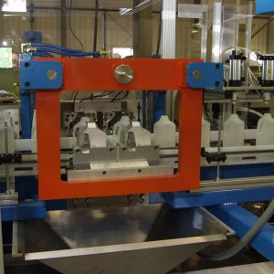 Rocheleau's automation and trimming equipment can be adjusted to fit your specific blow moulding process.