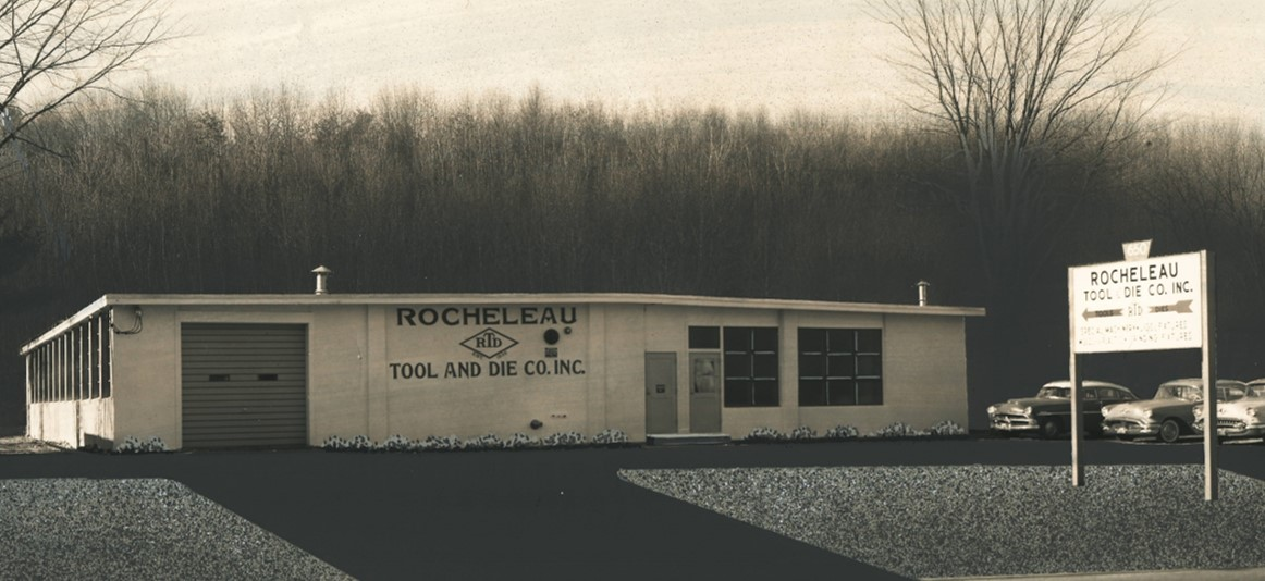 Rocheleau Tool building circa 1958 cropped