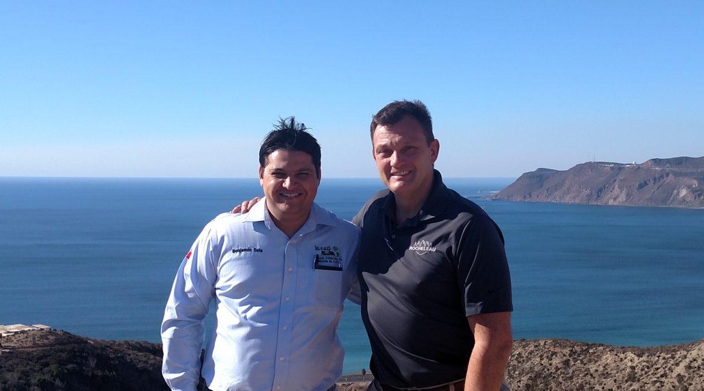 Steven Rocheleau with Benjamin Sela